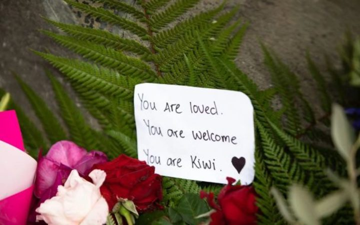 A message left on the wall outside the Christchurch Botanical Gardens.