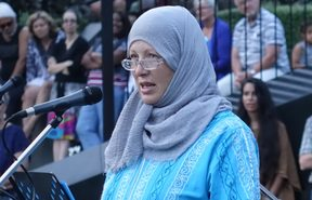 Shirley Rankin  told the crowd that the huge outpouring of love and support for Muslims was a great comfort.