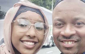 Mulki Abdiwahab, 18, and her father Osman Ahmed, 43.