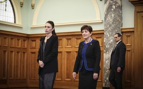 Condolence Book for the Christchurch Attacks. Prime Minister, Jacinda Ardern and Governor General, Dame Patsy Reddy.