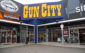 The Gun City store on the outskirts of Christchurch.