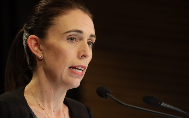 PM Jacinda Ardern at today's press conference.