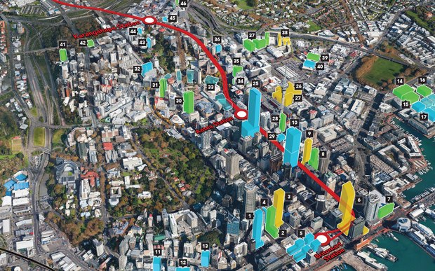 Auckland City believes a new rail tunnel and two new downtown stations will transform the city centre.