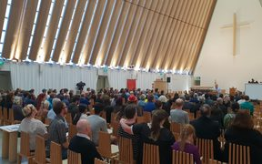About 200 people from around Christchurch gathered to talk about how they can look ahead to the future.
