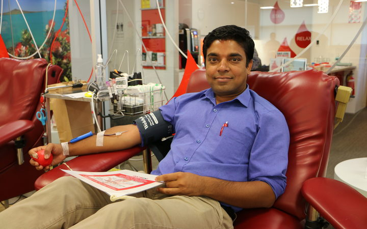 Abhinay Verma is a first time donor in New Zealand and said he wanted to help.