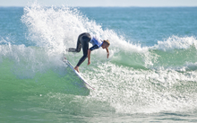Professional surfer Ellie-Jean Coffey competes in the New Zealand Surf Festival in Taranaki on 1 May 2014.