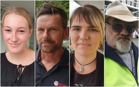 From left to right - Alice Tiso, Scott Craig, Danielle Gregan and Dennis Andrews speak out one week on from the Christchurch attacks.