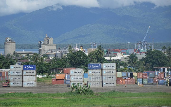 Port of Lae, Papua New Guinea's main industrial hub.