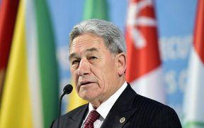 Foreign Minister Winston Peters addresses a press conference following an emergency meeting of the Organisation of Islamic Cooperation in Istanbul, 22 March.