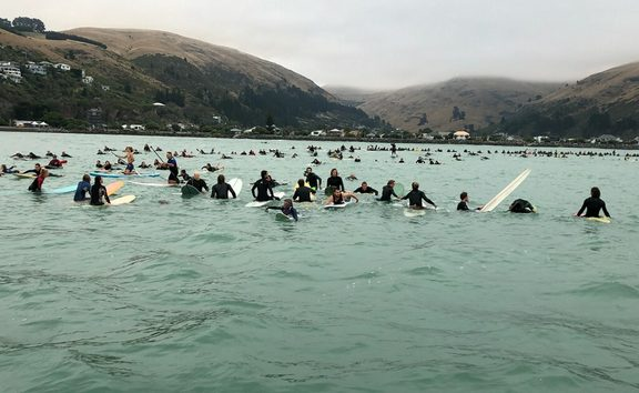 Hundreds Of Chch Surfers Paddle Out In Tribute Of Victims