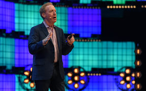 Microsoft president Brad Smith speaks on the centre stage at the 2018 edition of the annual Web Summit technology conference in Lisbon.