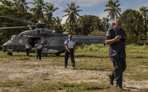 Royal New Zealand Air Force NH90 helicopters have been helping transport election officials, ballot boxes and other election material to remote communities in Solomon Islands.