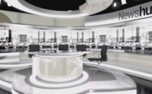 An artist's impression of the Newshub newsroom in Auckland.
