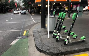 Lime scooters back in Auckland this morning.