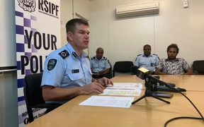 Solomon Islands Police Commissioner Matthew Varley updates media on election security operations.