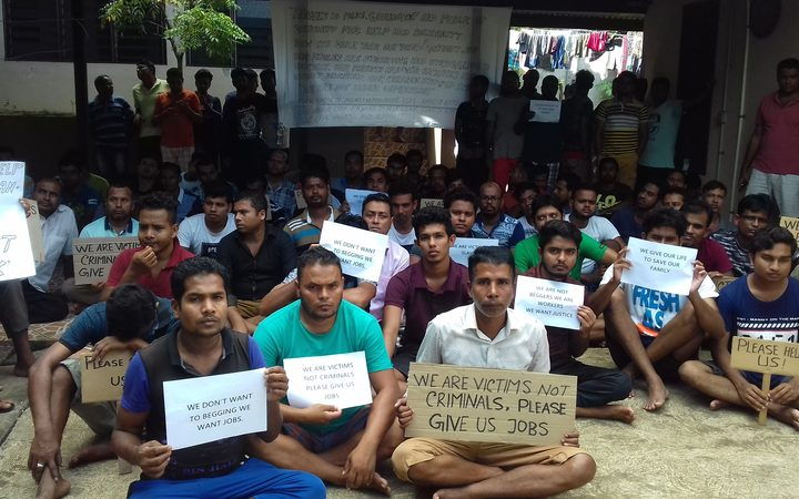 A group of Bangladeshi men stuck in limbo in Port Vila.