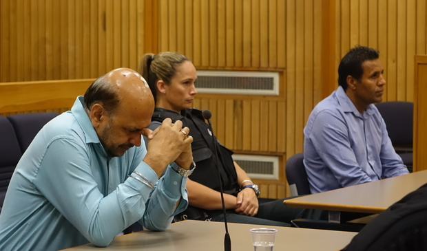 Kulwant Sing, left, and Jaswinder Singh Sangha in the High Court in Nelson during sentencing on charges of supplying false information.