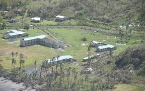 Saint John's College in Fiji - a day after Cyclone Winston hit the country in 2016.