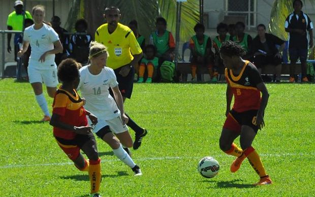 Papua New Guinea were beaten 7-1 by New Zealand in Lae before withdrawing from the return leg.