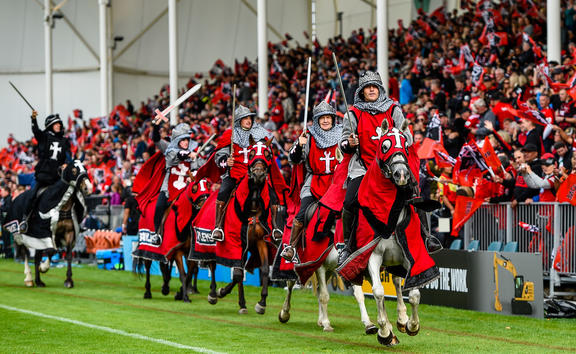 The Crusaders Horses during the Super Rugby match at Christchurch Stadium, 9 March 2019.