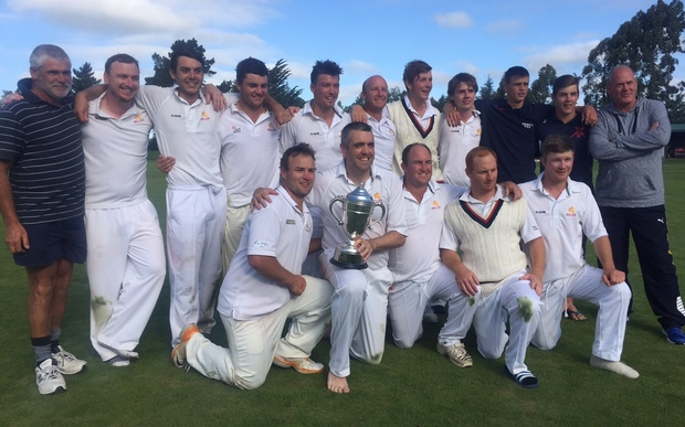 The Buller team with the Hawke Cup.