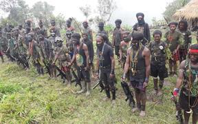 West Papua Liberation Army unit, led by Egianus Kogoya. Derakma, Nduga regency, Papua. March 2019