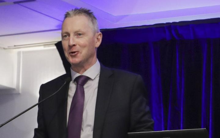 Chris Cahill speaking the Police conference in Wellington focused on the cannabis referendum.