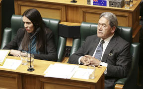 Jacinda Ardern and Winston Peters at The House.
