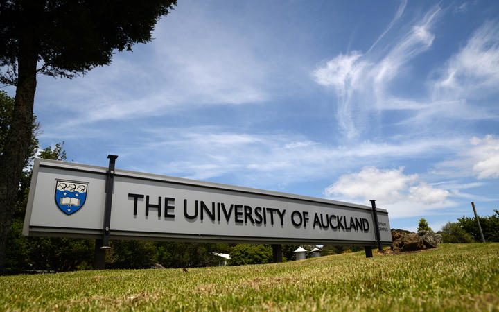 Signage for the Epsom Campus of the University of Auckland in New Zealand.