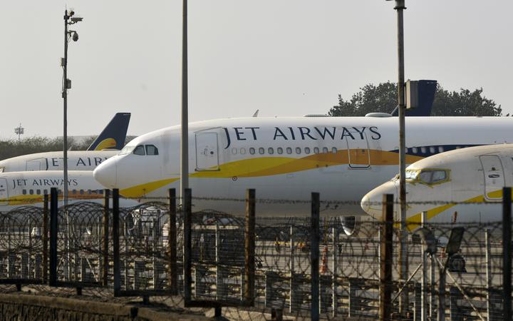 Jet Airways pilots stage protest demanding unpaid salaries in Mumbai