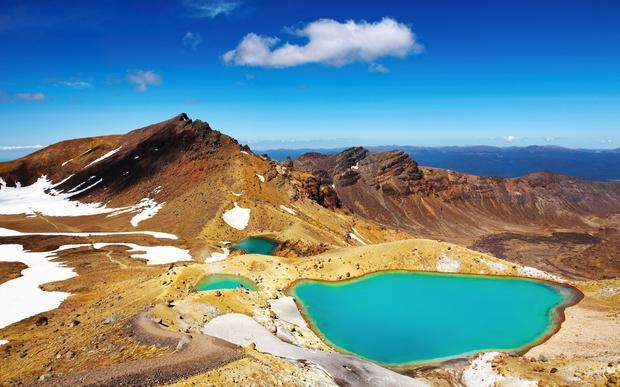 The emerald green lakes at The Tongariro Crossing. Photo RNZ