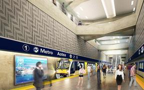 An artist's impression of the proposed mid-town Aotea Station