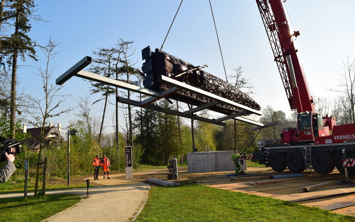 The pou maumahara, installed on 15 April in Passchendaele Memorial Park in Zonnebeke, will be officially unveiled on Anzac Day.