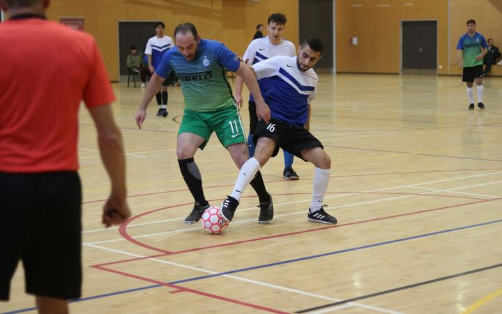 One of the organisers, Fadi Al Seenawi, in the green and blue said the Atta Elayyan Men's Memorial Futsal Tournament will be an annual event.
