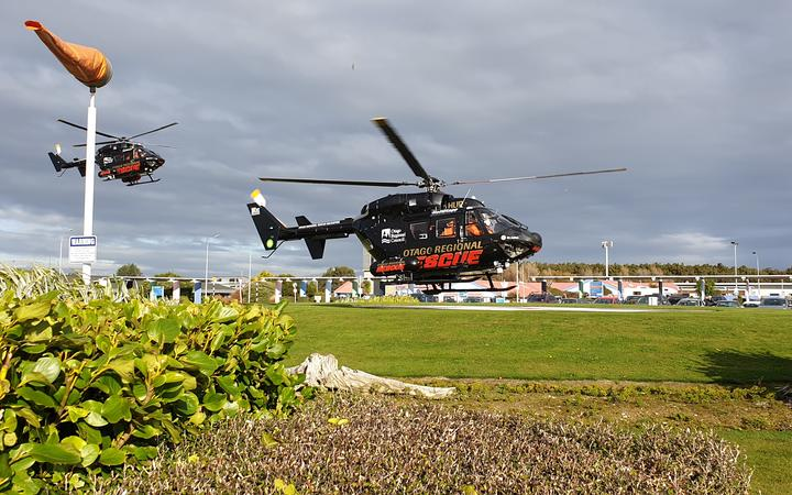 Two helicopters transports three rescued crew members to Southland Hospital in Invercargill, where their will be assessed.
