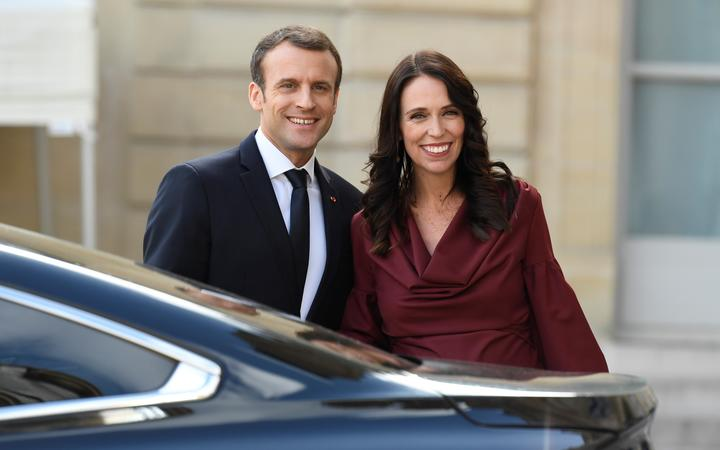 Emmanuel Macron and Jacinda Ardern have announced a joint effort to work toward curbing terrorism on social media. File photo.