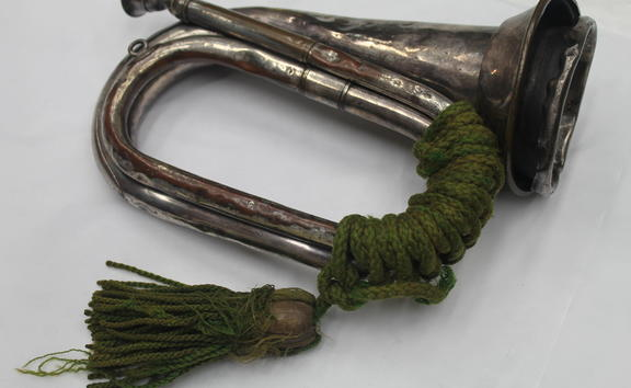 WW1 bugle from Auckland War Memorial Museum | Tamaki Paenga Hira collection.