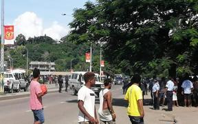 Honiara rioters after election