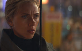 "This image released by Disney shows Scarlett Johansson in a scene from ""Avengers: Endgame."""