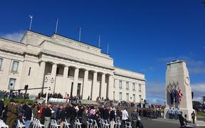 The Anzac civic service in Auckland.