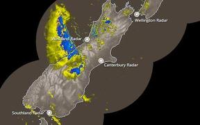 Heavy rain is set to batter the South Island.