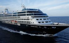 The 'Azamara Quest' carries about 700 guests in butler-serviced staterooms, plus about 400 crew.