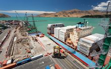 Lyttelton Port's Cashin Quay Two is being rebuilt in stages.
