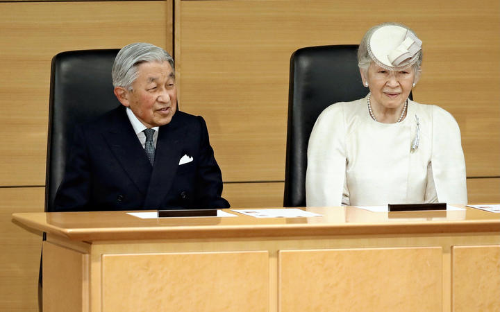 Japanese Emperor Akihito and Empress Michiko ahead of his abdication.