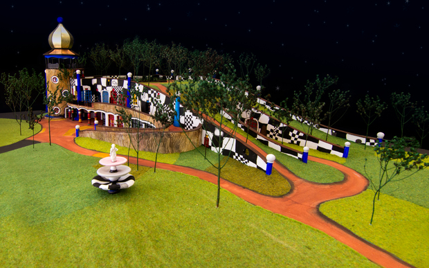 A model of the proposed Hundertwasser Art Centre in Whangarei.