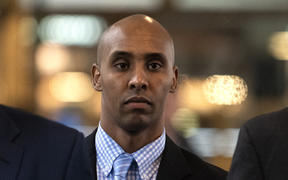 MINNEAPOLIS, MN - APRIL 30: Mohamed Noor and his legal team arrive at the Hennepin County Government Center after the jury reached a verdict on April 30, 2019 in Minneapolis, Minnesota.