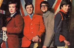 The Avengers pose for a publicity shot in 1967. From left to right Eddie McDonald (bass), Dave Brown (guitar), Hank 'Ian' Davis (drums) and guitarist / keyboard player Clive Cockburn.