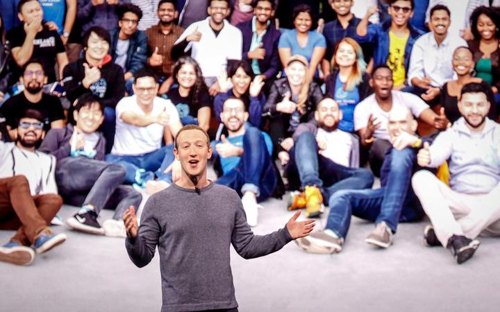 Facebook CEO Mark Zuckerberg delivers the opening keynote introducing new Facebook, Messenger, WhatsApp, and Instagram privacy features.