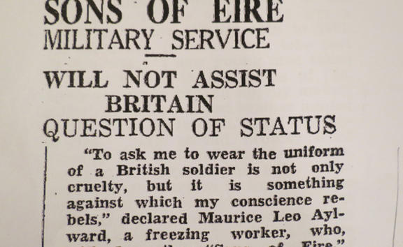A newspaper clipping from 1941 in New Zealand from True to Ireland by Peter Burke