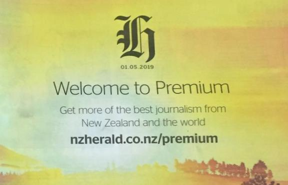 The Herald gives its readers the message that its time to cough up online for the best bits.